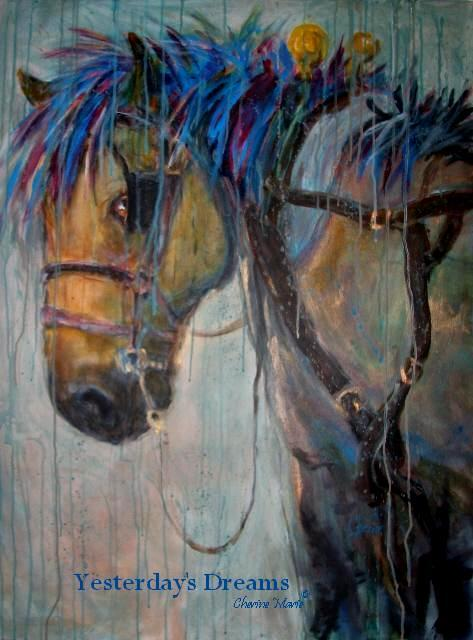 watercolor work horse harness horsefeathers